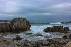 Stormy seascape royalty free stock images