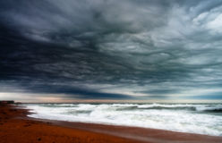 Stormy seashore Royalty Free Stock Photography