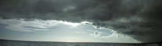 Stormy Shores. Thunder, gray, clouds, storm, gulf coast Stock Photo