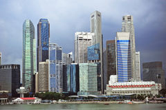 Stormy Singapore Stock Photography
