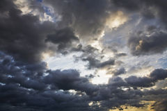 The stormy skies Stock Photography