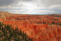 Stormy skies in Bryce Canyon. Royalty Free Stock Photos