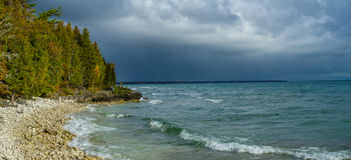 Stormy skies. door county, wisconsin Stock Image