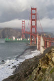 Stormy Skies on the Golden Gate Bridge Stock Images