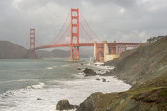 Stormy Skies on the Golden Gate Bridge Royalty Free Stock Images