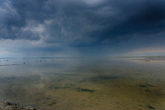 Stormy skies over the Frysian Waddenzee Stock Images