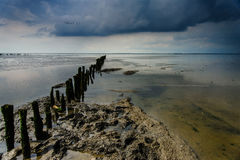 Stormy skies over the Frysian Waddenzee Royalty Free Stock Photography