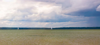 Stormy skies over the lake Royalty Free Stock Images