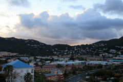 Stormy skies over St Thomas Royalty Free Stock Photography