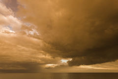 Stormy Skies over Withernsea, East Cost Yorkshire, UK Stock Photo