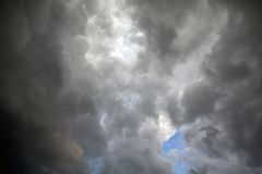 Stormy sky. With black clouds Stock Photography