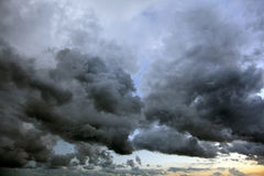 Stormy sky. With black clouds Stock Images