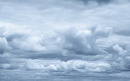 Stormy sky. Dark ominous clouds. Dramatic sky royalty free stock images