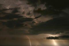Stormy Sky. Lightning and Clouds. Madeira Beach Florida Royalty Free Stock Photos