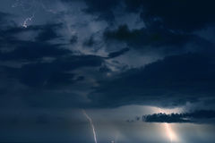 Stormy Sky. Lightning and Clouds. Madeira Beach Florida royalty free stock images