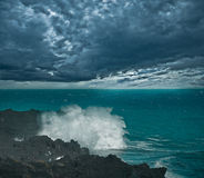 Stormy sky above the ocean. Royalty Free Stock Image