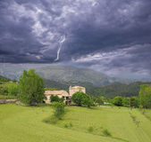 Stormy sky above Provence countryside. Royalty Free Stock Photography