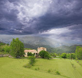 Stormy sky above Provence countryside. Royalty Free Stock Images