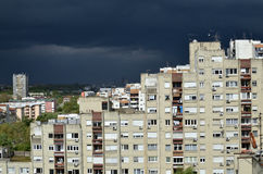 Stormy Sky above Residential Quarter Royalty Free Stock Photography