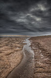 Stormy sky at the beach. Royalty Free Stock Image