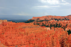 Stormy sky in Bryce Canyon Stock Photo