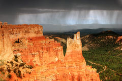 Stormy sky in Bryce Canyon Royalty Free Stock Photos