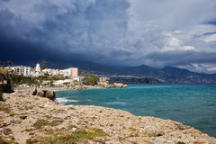 Stormy Sky at Costa del Sol in Spain Royalty Free Stock Image