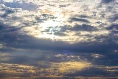 Stormy sky with dark clouds Stock Photos