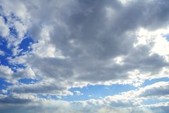 Stormy sky with gray clouds Royalty Free Stock Photos