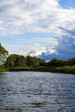 Stormy sky on a lake Royalty Free Stock Photo