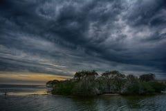 Stormy sky night shot. Taken in Florida royalty free stock image
