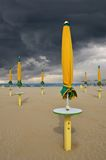 Stormy sky over the beach. In summer stock photo