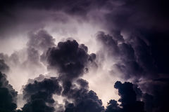 Stormy sky. Over the Black Sea on a summer evening Stock Photography