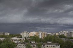 Stormy sky over city Stock Photography
