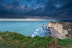 Stormy sky over cliffs in France Stock Photos