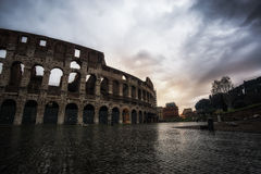 Stormy sky over Colosseum Royalty Free Stock Image