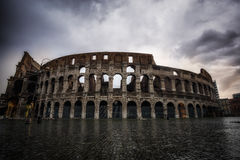 Stormy sky over Colosseum Royalty Free Stock Photography