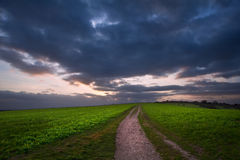 Stormy sky over countryside landscape Royalty Free Stock Photography