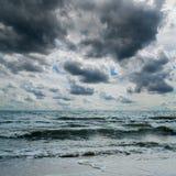 Stormy sky over dark sea Royalty Free Stock Photo