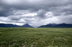 Stormy Sky over Denali Highway Royalty Free Stock Photo