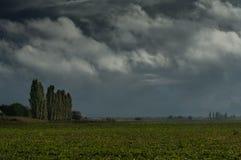 Stormy sky over farmland Stock Photography