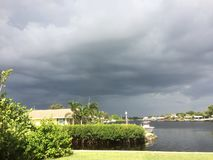 Stormy Sky Over Little Manatee River royalty free stock photo