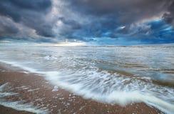 Stormy sky over North sea coast Royalty Free Stock Photography