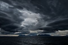 Stormy sky over an ocean Stock Photography