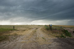 Stormy Sky Over Prairie Royalty Free Stock Images