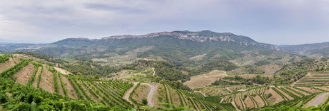 Stormy sky over Priorat, Catalonia, Spain Stock Photography