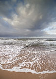 Stormy sky over rough Baltic Sea Stock Images