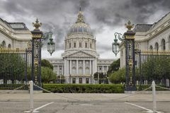 Stormy Sky over San Francisco City Hall Royalty Free Stock Photography