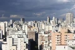 Stormy Sky over Sao Paulo Stock Photo
