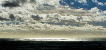 Stormy sky over the sea. Stormy sky over the cold dark north sea Stock Images